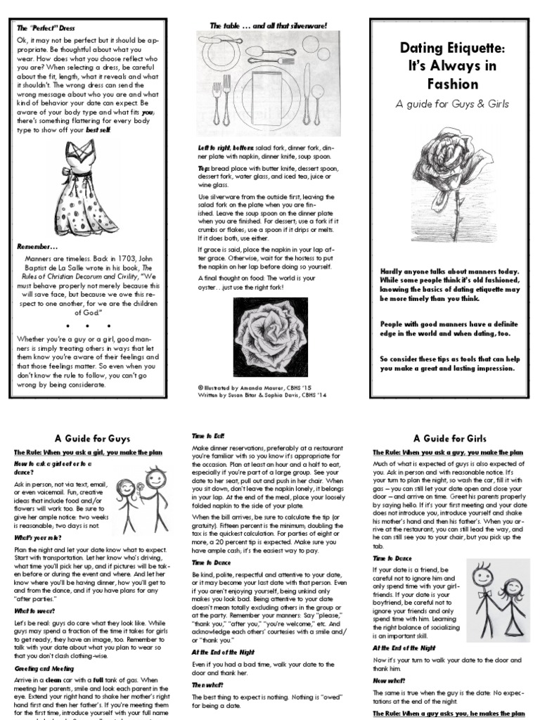 guys rule book for dating