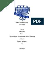 mover objeto de dominio de active directory