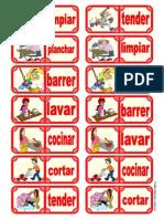 Fichas de dominó - Las Tareas del Hogar