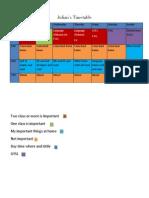 julians timetable