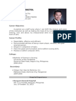 Sample resume for hospital