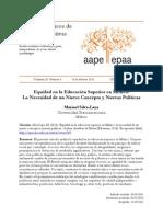 Equidad en La Educacion Superior en Mexico