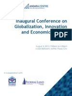 Angara Centre - Inaugural Conference on Globalization and Growth
