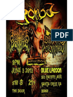 Show we did with Gorod and Inanimate Existence