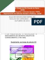 Aula de Sociologia Geral no núcleo de Caraúbas