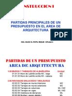 Estructura presupuesto - arquitectura