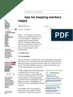 10 Tips 4 Keeping Workers Happy_CNN