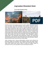 Contoh Pengrusakan Ekosistem Darat