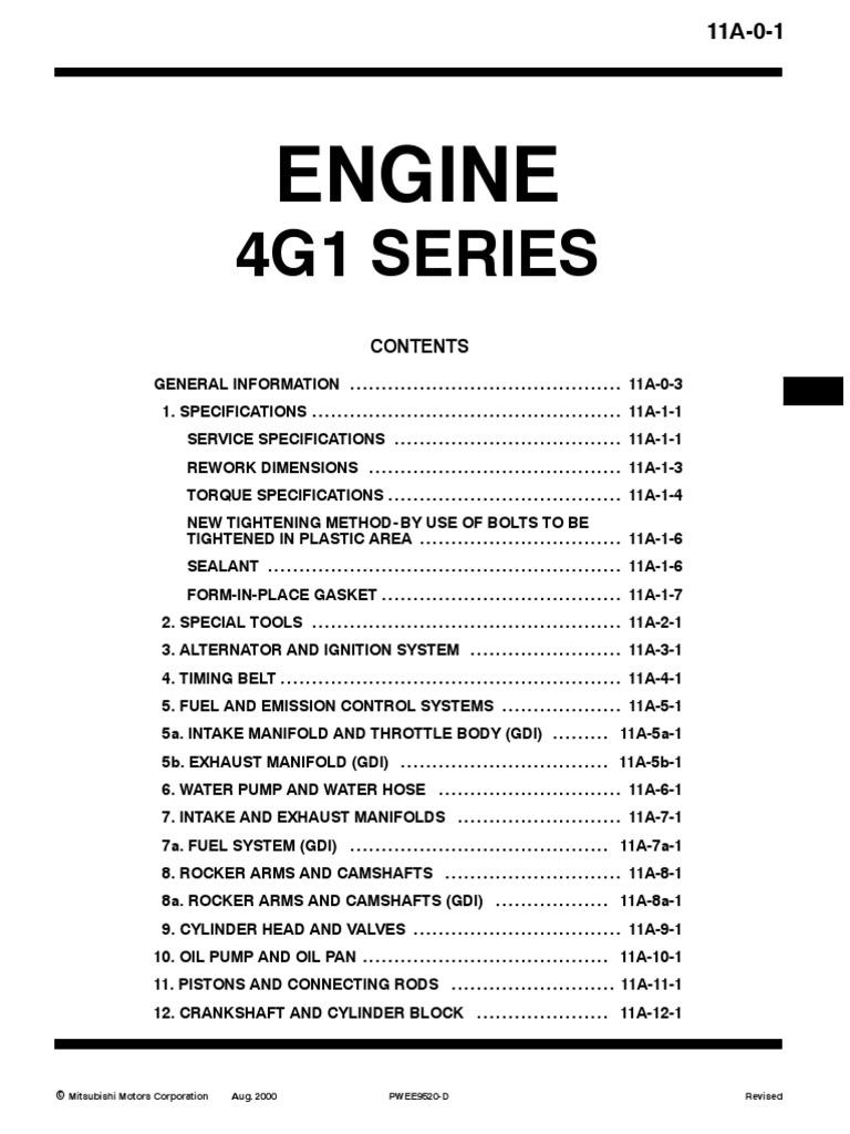 Proton 4g1x Engine Manual