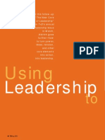 Using Leadership to Implement Leadership