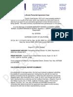 Summary of Barry Bonds Premarital Agreement Case