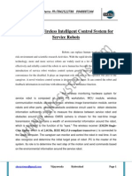 A Design of Wireless Intelligent Control System for Service Robots