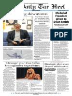 The Daily Tar Heel for November 20, 2013