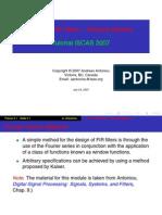 FIR Filters-Window Method