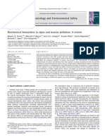 3.2. Biochemical Biomarkers in Algae and Marine Pollution