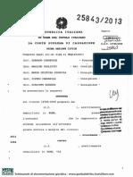 Corte Di Cassazione - Sezione I Civile - Sentenza 18 Novembre 2013 n. 25843