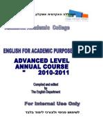 Mitkadmim Workbook Updated Annual 2010-11 Final
