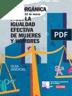 643270-Guia Sindical Ley Organica Para La Igualdad Efectiva de Mujeres y Hombres