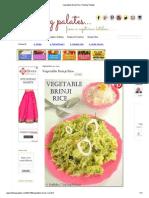 Vegetable Brinji Rice _Tickling Palates