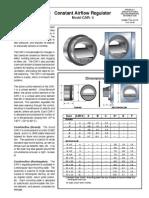 CAR-II_(R)_Constant Airflow Regulator_Prod Specs Tech Data
