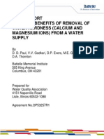 Study on Benefits of Removal Ofwater Hardness
