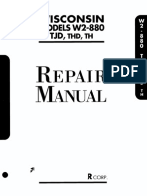 Tjd Thd Th w2880repair | Internal Combustion Engine | Carburetor  Cylinder Wisconsin Engine Wiring Diagram on