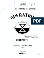 Operation Chromite Inchon Landing x Corps Report Oct 1950