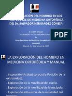 La Exploracion Reglada Del Hombro en Medicina Ortopedica y Manual