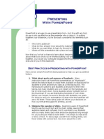 Best Practices in Presenting With PowerPoint