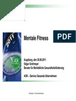 Mentale-Fitness Vortrag