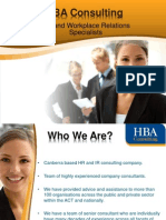 HBA Consulting - Human Resource and Workplace Relation