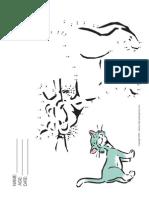 Connect Dots Cat Standing Cartoon a4