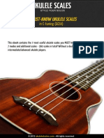 24 Must Common Ukulele Scales Modes Soprano C Tuning GCEA