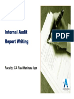 Intensive Internal Audit Report Writing