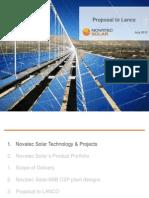 120715 Novatec Solar Presentation to Lanco Novatec