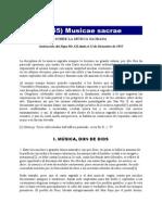 Sobre la Música Sacra-musicaesacrae_Pío XII-1955