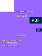 Object Oriented Programming (OOP) - CS304 Power Point Slides Lecture 12
