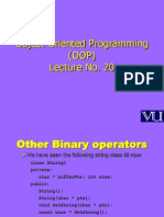 Object Oriented Programming (OOP) - CS304 Power Point Slides Lecture 20