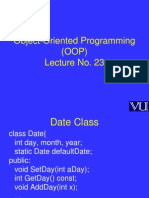 Object Oriented Programming (OOP) - CS304 Power Point Slides Lecture 23