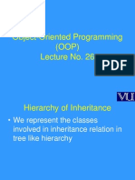Object Oriented Programming (OOP) - CS304 Power Point Slides Lecture 26