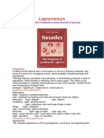Leprominium  A Glimpse with comparative study (Nosode of leprosy)