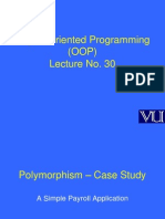 Object Oriented Programming (OOP) - CS304 Power Point Slides Lecture 30