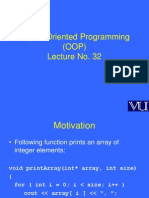 Object Oriented Programming (OOP) - CS304 Power Point Slides Lecture 32