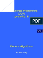 Object Oriented Programming (OOP) - CS304 Power Point Slides Lecture 34