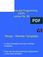 Object Oriented Programming (OOP) - CS304 Power Point Slides Lecture 36