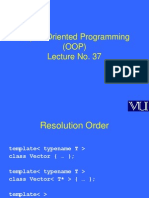 Object Oriented Programming (OOP) - CS304 Power Point Slides Lecture 37