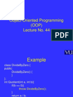 Object Oriented Programming (OOP) - CS304 Power Point Slides Lecture 44