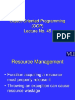 Object Oriented Programming (OOP) - CS304 Power Point Slides Lecture 45