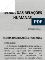 TRABALHO 03 _ TEORIA DAS RELAÇÕES HUMANAS