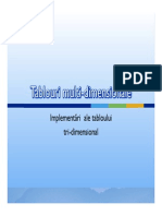 Tablouri Multi-dimensionale (1)